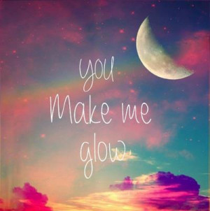 cute, cute quotes, glow, love, love quotes, make, moon, sky, true love ...