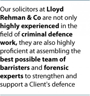 Our solicitors at Lloyd Rehman & Co are not only highly experienced in ...