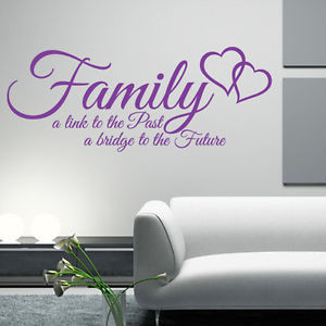 FAMILY-link-to-past-a-bridge-to-the-future-quote-wall-art-sticker ...