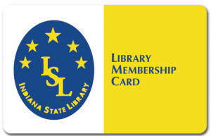 Plastic Indiana State PVC Cards Online Library Membership