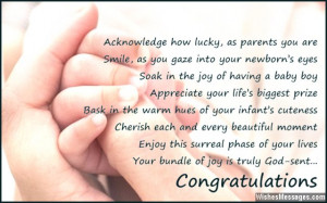 Congratulations On New Baby Boy Quotes
