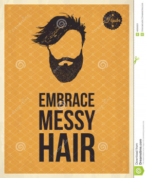 hipster-vintage-trendy-look-quotes-embrace-messy-hair-quote-face-hand ...