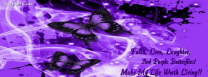 Purple Butterfly Facebook Covers