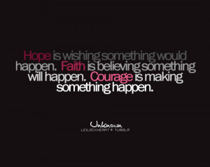 courage, faith, hope, quote, text