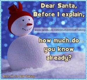 santa knowledge i wish santa brings you the gift of