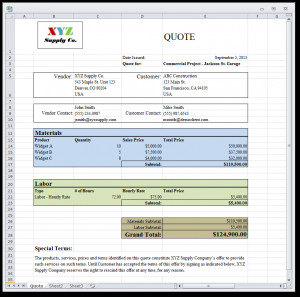 Quotes Example Output 2 - Generate & Create Sales Quotes from ...