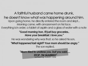 faithful husband came home drunk – Realtionship Quote