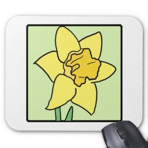 Cartoon Clip Art Daffodil Spring Garden Flower Mousepad