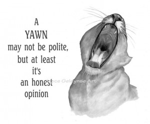 Art: Lion Clipart, Humor Clipart, Yawn Quote, Yawning Lion,Funny Quote ...