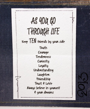 Walking Together Quotes As you walk through life keep