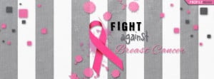 Gray Striped Fight Against Breast Cancer Facebook Cover