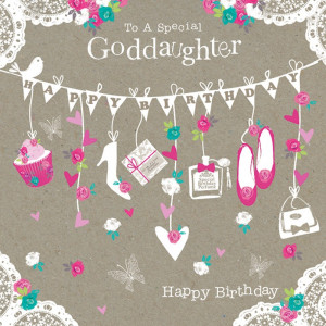 Birthday Card - Happy Birthday with a string of bunting