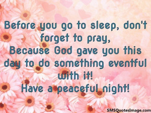 Peaceful Images With Quotes Good Night Sms Quote Image
