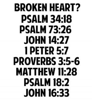 Scripture For A Broken Heart
