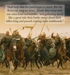 Lord Of The Rings Rohirrim Speech