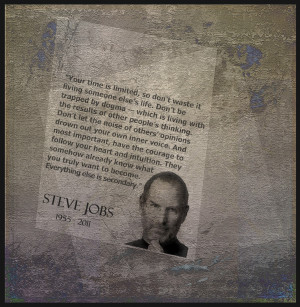 one of my textures as a background to feature a quote by Steve Jobs ...