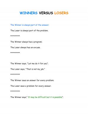 Winners Vs Losers ** by Kabila