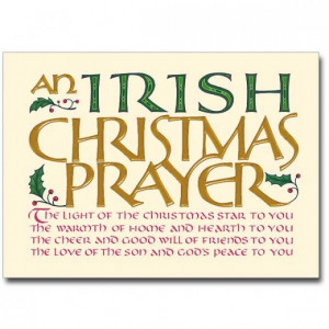 Irish Christmas Blessings, Greetings and Poems
