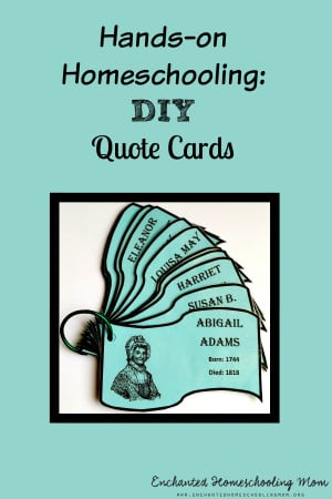 Hands on Homeschooling DIY Quote Cards png