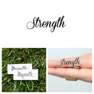 Quotes Strength Temporary Tattoo Set of 2 by Tattify on Etsy, $5.00