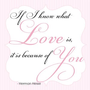 Wedding invitation quote by Hesse