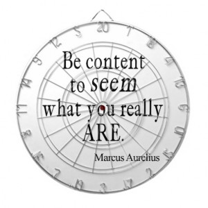 Vintage Marcus Aurelius Content to Be Quote Quotes Dart Board