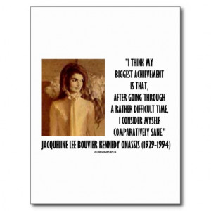 Jackie Kennedy Portrait Comparatively Sane Quote Postcard