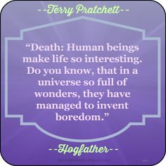 to invent boredom terry pratchett hogfather # quote hogfather quotes ...