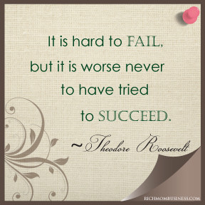 work at home mom businesses inspirational quotes it is hard to fail ...