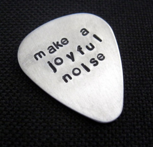 make a joyful noise... customized / personalized handstamped aluminum ...