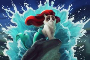funny-pictures-ariel-mermaid-grumpy