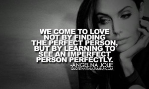 Seeing the imperfect person perfectly.