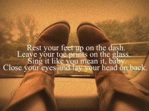 Feet up on the dash