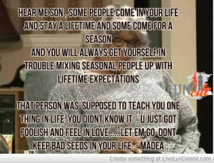 Madea Advice Seasonal People