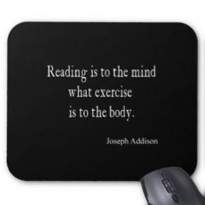 Vintage Addison Reading Mind Inspirational Quote Mouse Pad