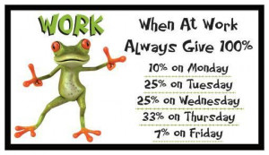 Fridge Magnet [auction]: FROG LOGIC - WORK (Funny Motivational Quote)