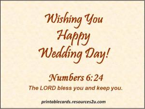Wishing You Happy Wedding Day!