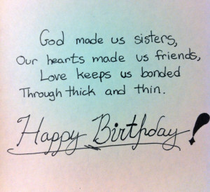 Preparing Your Sister Birthday Quotes