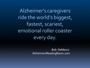 Alzheimer's Caregiver Quote