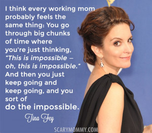 Tina Fey quote on motherhood via Scary Mommy