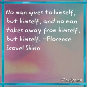 Quotes by Florence Scovel Shinn