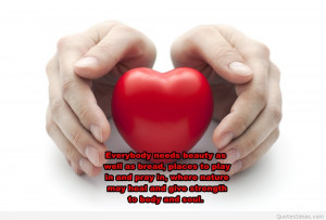Heart health new quote on background