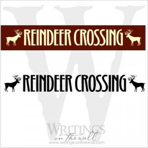 reindeer crossing $ 12 00 reindeer crossing at christmas time it is ...