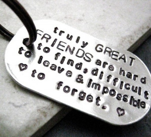Great Friends Quote Key Chain great gift for by riskybeads quotes ...