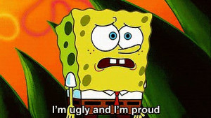 beautiful, cartoon, funny, nickelodeon, spongebob, ugly