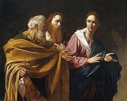 St. Andrew (middle) in Calling of Apostles Peter and Andrew by ...