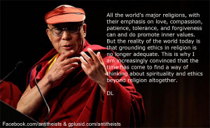 "Infact, the Dalai Lama says to ""Stay in your own religion and ..."