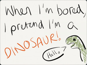 funny #quote #dinosaur #bored
