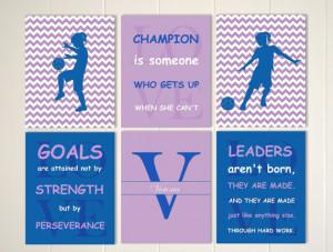Soccer girl, inspirational quote art for girls, sports art, girls ...