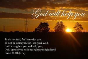 God Will Help You http://www.redbubble.com/people/catherinedavis